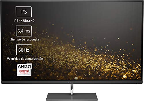 HP Envy 27s - Monitor IPS 4K Ultra HD (3840 x 2160 Pixeles, LED, 4K Ultra HD, IPS, 1300:1, AMD FreeSync) Color Negro
