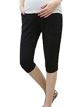 Hellomiko Pantaloni premaman estivi Pantaloni sportivi casual 3/4 Pantaloncini con lacci