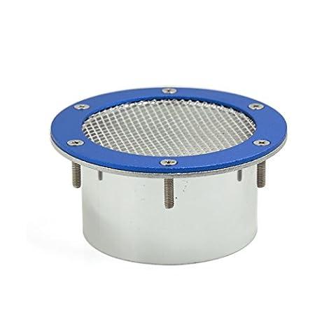 sourcingmap® Blau Vent Scoop Luft Aufnahme Induktion Stil Auto Fender Netz Kühlergrill 10cm Dmr
