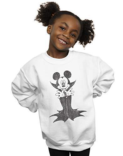 Disney Mädchen Mickey Mouse Dracula Sweatshirt Weiß 7-8 Years