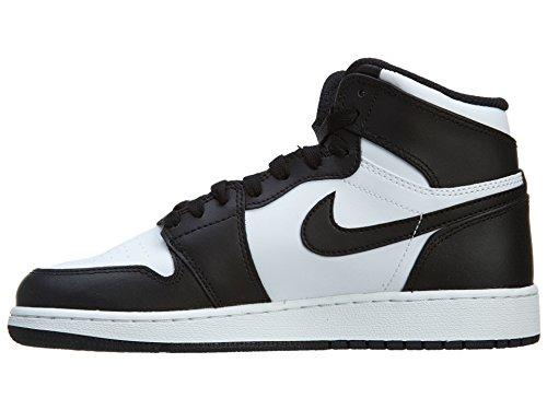 timeless design 7ac24 536fd ... Nike Jungen Air Jordan 1 Retro High OG BG Basketballschuhe Schwarz    Weiß (Schwarz ...