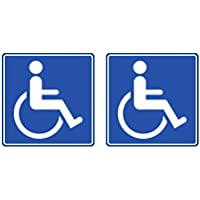 Dhabmin Pegatinas Minusválidos Discapacitados Pack 2 Unidades Resistentes a Todo Tipo de Exterior Coche Furgonetas Establecimientos