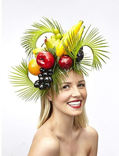 Eleda Hats Kopfbedeckung mit tropischem Obst- und Blattmotiv, für besondere Anlässe