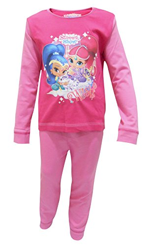 Shimmer & Shine Girls Pyjamas Full Length PJS Set Kids Toddlers Nightwear Size UK 1-4 Years