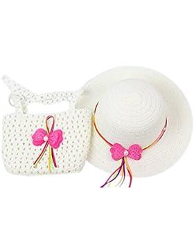Dantiya sombrero de paja con una bolsa como Regalo para niñas Nuevo 2016