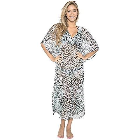 La Leela ottenere 5 in 1 ♛ costumi bagno costume bagno caribbean bikini beach party coprire indumenti letto abito corto casual tunc superiore pura leggero chiffon plus size kimono lungo maxi