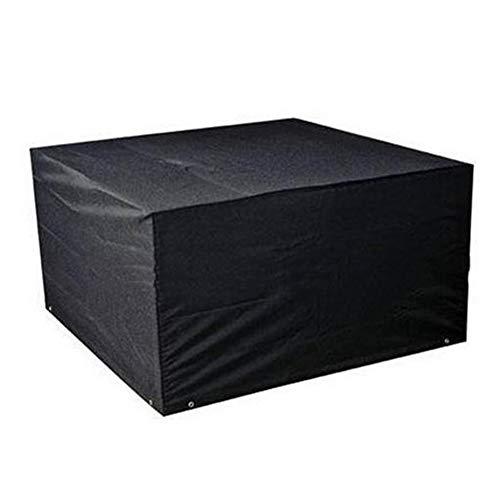 Patio-möbel-set Abdeckung (HYDT Möbelsets Rechteckige Tisch-Stuhlhussen mit Aufbewahrungstasche, tragbare Möbel-Set-Abdeckung für den Patio-Garten im Freien, leicht zu reinigen, schwarz (Size : 250×250×90cm))