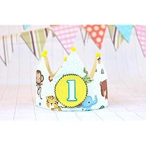 Geburtstagskrone, Stoffkrone für Kinderparty, Baby- und Kinderkrone