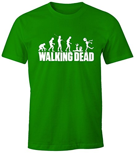 Herren T-Shirt - Walking Dead Zombie Revolution - Comfort Fit MoonWorks® Grün