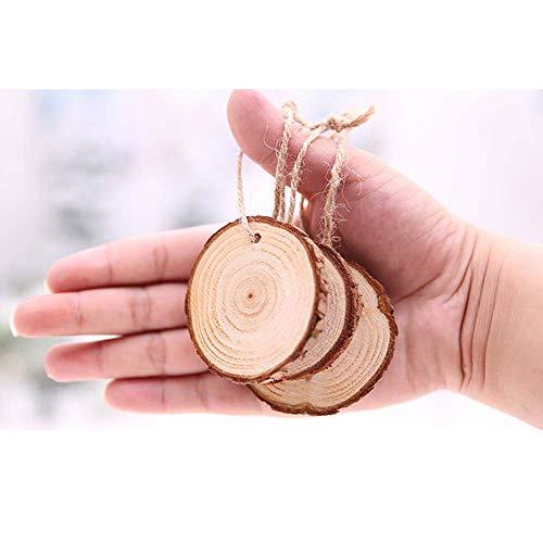 e Holzscheiben für Mittelstücke-20pcs Holzscheiben mit Löchern Scheiben, DIY Handwerk Malerei & Handwerk rustikale Hochzeit Ornamente ()