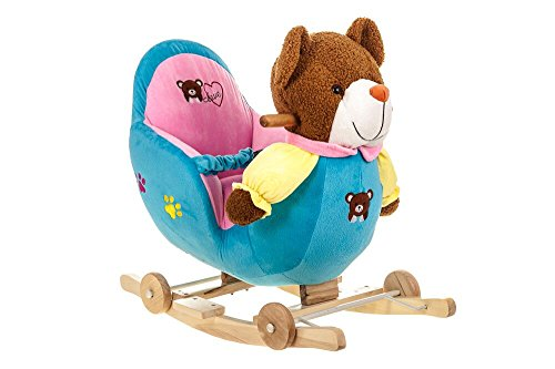 Costello� HQ BROWN TEDDY BABY CHILDREN KID SOFT MUSICAL ROCKING HORSE ANIMAL TODDLER CHAIR INFANT ROCKER TOY ?FREE NEXT DAY DELIVERY?SAME DAY DISPATCH BEFORE 2PM?