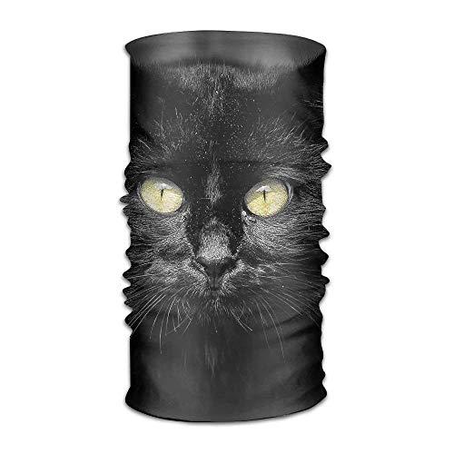 KENTONG Hill Magic Headwear Cat Yellow Eyes Outdoor Scarf Headbands Bandana Mask Neck Gaiter Head Wrap Mask Sweatband
