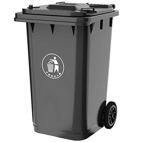 SDFGFGH 100L / 120 / 240L Wheelie Bin Bin plástico Reciclaje de Residuos Cubos de Basura al Aire Libre...