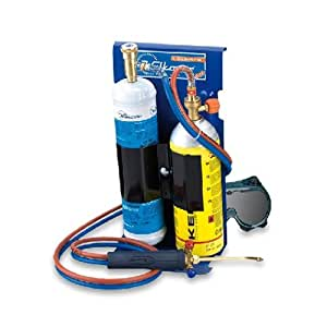 Kemper 555K Poste à soudure chalumeau à oxygène kit complet de bouteilles