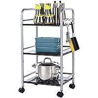 RFJJAL Cocina de 3 Niveles Rack de panaderos Utilidad para microondas Horno Soporte de Almacenamiento Estante