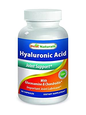 Best Naturals Hyaluronic Acid 100 mg 60 Capsules - Support Healthy Joints and Youthful Skin by Best Naturals