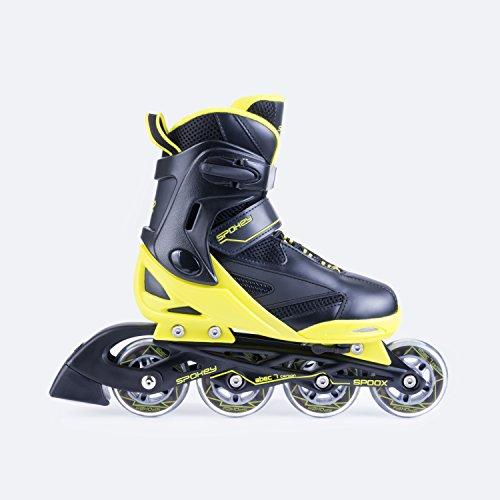 SPOKEY® SPOOX Inline Skates | Größenverstellbar | Kinder | Damen | Herren | Inliner | Inline Blades | Aluminium Schiene | ABEC7 Karbon | Größen 36-39 / 40-43