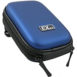 Ex-Pro® Blue Hard Clam Shock proof Digital Camera Case Bag CR287G for Samsung Digimax 301, 401, A40, A50, A55, A302, A402, A502, A503, AQ100, BL103, BL1050, CL5, D60, D70, D73, D75, D85, D103, D860, ES10, ES15, ES17, ES20, ES25, ES28, ES30, ES55, ES60, ES63, ES65, ES71, ES73, ES75, i5, i50, i6, i6PMP, i7, i70, i70, i8, i8, i50, i80, i80, i85, i85, i100, IT100, L50, L55, L60, L70, L73, L74 Wide, L