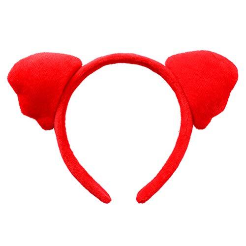 TOYANDONA Haarreif, süßes Ohr, Tuch, Ohr, Party, Performance, Haar-Zubehör (rot) (Schwein Stirnband Ohr)