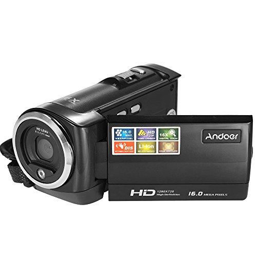 Andoer Mini tragbare LCD-Bildschirm HD 16MP 16 X digitaler Zoom 720P 30 FPS Anti-rütteln Digitalrekorder DV Kamera Camcorder DVR