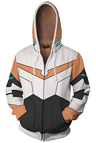 Voltron:Legendary Defender Hunk Pulli Kapuzenpulli Cosplay Kostüm Orange ()
