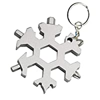 ZZbaixinglongan Beautiful 18 In 1 Multi-Tool Card Combination Compact And Portable Outdoor Products Snowflake Tool Card for Camping, Picnic and Other Outdoor Activities(None gray)