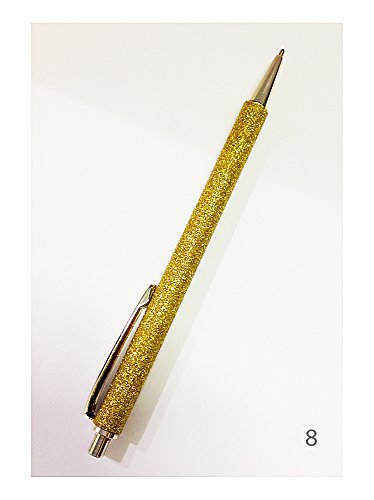 Penna a sfera e a scatto   Glitter   Metallo Argentato   Cesare Emiliano (N.1 Viola) (N.8 Giallo Oro)