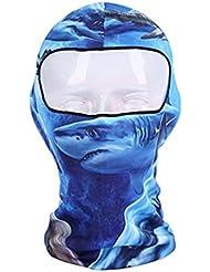 De plein air Fantaisie Cagoule Couvre-chef Masque pour le cyclisme,le ski,le snowboard, Requin