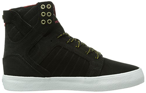 Supra Skytop, Baskets mode mixte adulte Noir (Black/Yellow-White Bl)