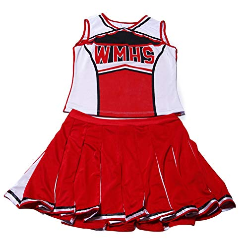 Gyratedream Damen Sexy Varsity High School Cheer Girl Sexy Cheerleader Kostüm Uniform Halloween Kostüm (Halloween High School Kostüm)