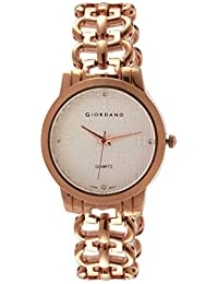 Giordano Analog Rose Gold Dial Women's Watch-C2204-22
