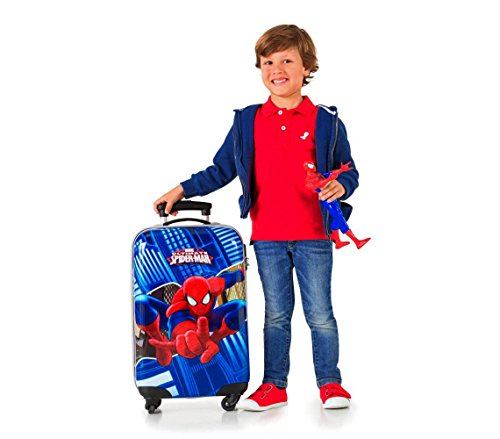 41Bhs1xIdSL - 2451551 Maleta trolley rigida en ABS equipaje de mano SPIDERMAN 42x67x24cm