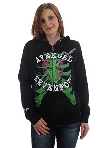Avenged Sevenfold-Attacco di cuore ragazzi/ragazze felpa con cappuccio Black Small