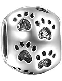 Soufeel Damen Charm Bead Tatzen Hund Pfote 925 Sterling Silber