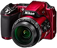 Nikon Coolpix L840 16MP Point and Shoot Digital Camera (Red) 38x Optical Zoom with 8GB Memory Card and Camera