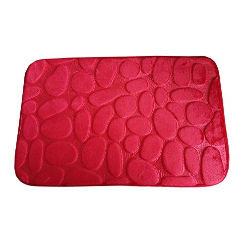 Felpudos Frikis Suave y cálido Alfombras y moquetas Otomanas y reposapiés Alfombrillas de baño Antideslizante Estera de puerta (type 1, Red)