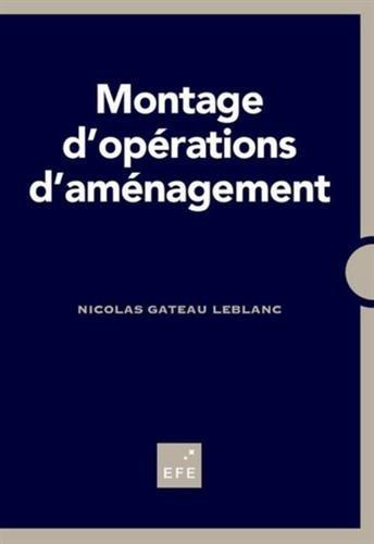 Montage d'opérations d'aménagement par From EFE Editions Formation Entreprise