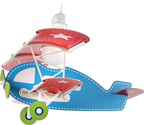 Dalber Baby Plane - Lámpara colgante Avión, color azul, E27