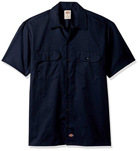 Dickies Herren Freizeithemd Work Shirt Short Sleeved, Blau (Dark Navy Dn), XX-Large (Herstellergröße: XXL) -