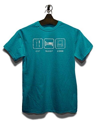 Eat Sleep Code Vintage T-Shirt Türkis