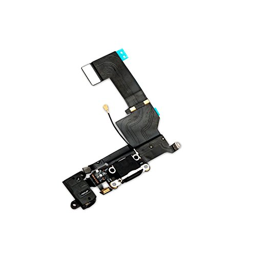 Iphone-modell (GiXa Technology iPhone Ladebuchse Dock Connector Antenne Audio Jack Flex Kabel Mikrofon für Diverse iPhone Modelle (iPhone SE, Schwarz))