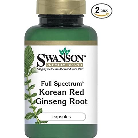 Swanson Premium Full-Spectrum Korean Red Ginseng Root 400 mg 90