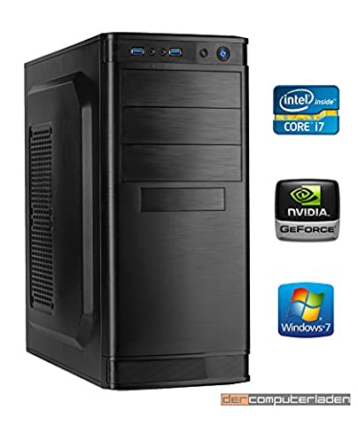 Office PC System Intel, i7-6700K 4x4,0 GHz, 16GB RAM, 2000GB HDD, nVidia GT730 -2GB, inkl. Windows 7 (inkl. Installation) Computer Büro Multimedia dercomputerladen