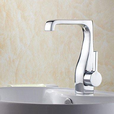SUNNY KEY-Waschbecken Wasserhahn @ Zeitgenössische Chrom Centerset Badezimmer Waschbecken Wasserhahn einzelne Einlochmontage - Wasserhahn Waschbecken Badezimmer Einzelne