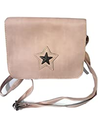 Glo Up Premium PU Leather Women / Girls Sling Bag With Adjustable Strap (Pink)