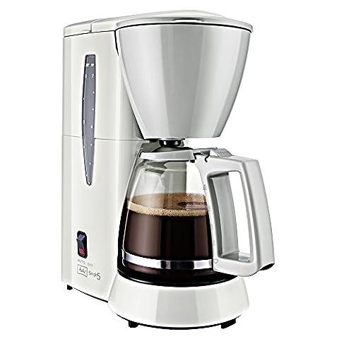 Melitta Cafetière à Filtre avec Verseuse en Verre, Pour 5 Tasses de Café, Single 5, Blanc, M720-1/1