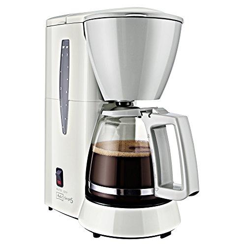 Melitta Single5 M 720-1/1, Filterkaffeemaschine für kleine Haushalte, Weiß/Grau