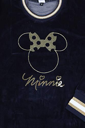 Disney Pijama Manga Larga Velour Minnie Navy para Mujer