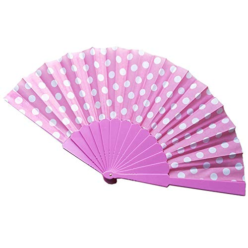 Cwemimifa Hand Fächer Faltbar für DIY, Tanz, Cooling Tools und Werbeaktionen, 8 Farben Chinese Folding Paper Fan Retro Hand Beute Fans Hochzeitsfestbevorzugungen (Beute Tanz Kostüm)