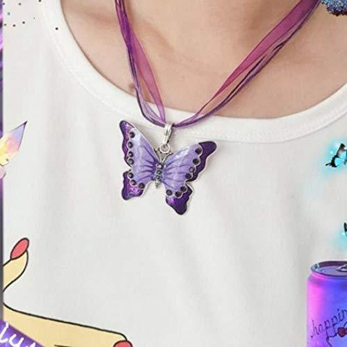 DAYUFEI Harajuku Damen Halskette Edelstahl Halskette Damen Perlen Kette weibliches Symbol Internet Mädchen Kragen Punkrock Kragen, A